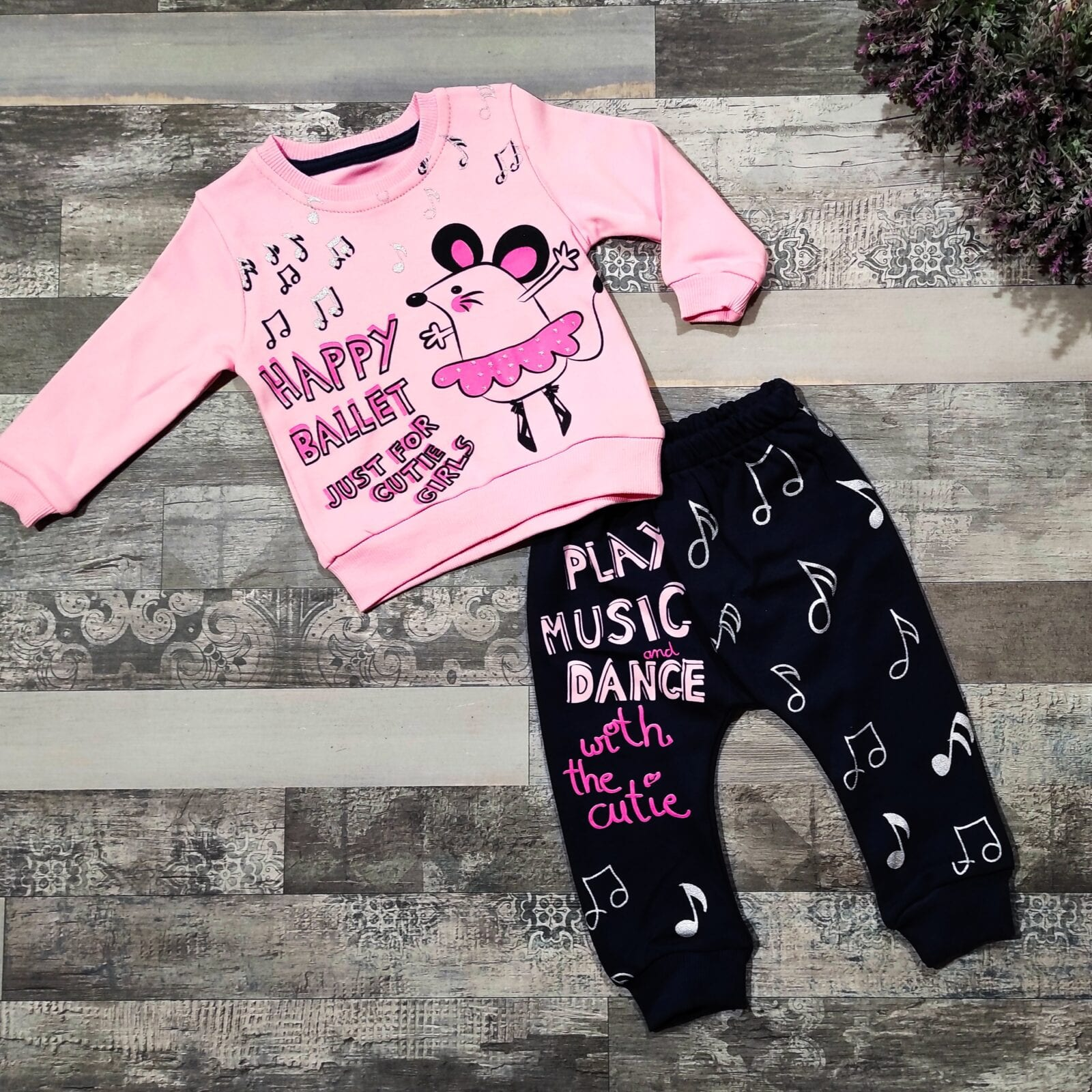 Σετ φόρμα HAPPY BALLET PINK 6-9-12-18 μηνών